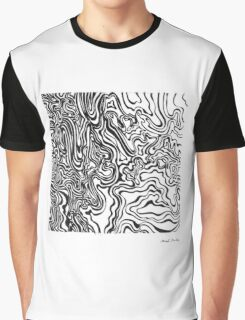 LINE : Optical Zoom Graphic T-Shirt