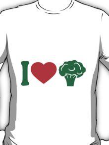 I love Herz broccoli vegetable logo T-Shirt