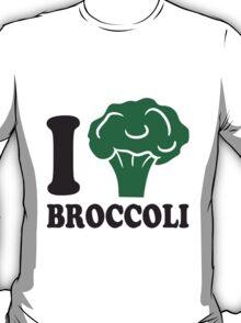 I love broccoli vegetable logo T-Shirt