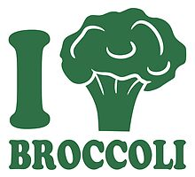 I love broccoli vegetable logo by Style-O-Mat