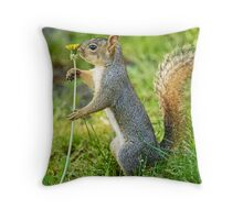 I Love My Flower! Throw Pillow