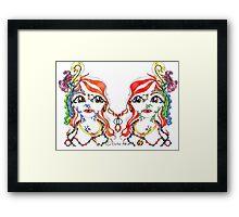 Mirror Twins Framed Print