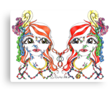 Mirror Twins Canvas Print
