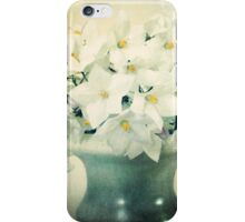 White Blossoms, image aged iPhone Case/Skin