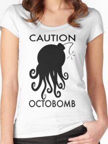 Caution Octobomb Women's Fitted Scoop T-Shirt