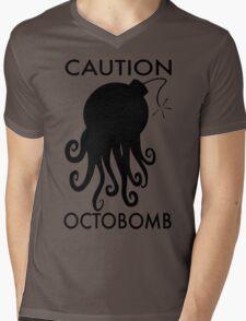 Caution Octobomb Mens V-Neck T-Shirt