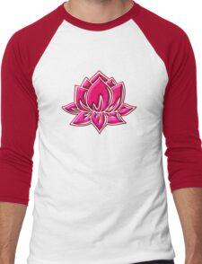 Lotus Flower Symbol Wisdom & Enlightenment Buddhism Zen Men's Baseball ¾ T-Shirt