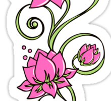 Lotus Flower Symbol Wisdom & Enlightenment Buddhism Zen Sticker