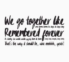 We go together like... One Piece - Short Sleeve