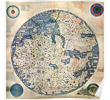 1458 World Map by Fra Mauro Poster