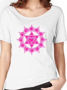 Anahata Heart Chakra Centre Of Love & Compassion Women's Relaxed Fit T-Shirt