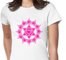 Anahata Heart Chakra Centre Of Love & Compassion Womens Fitted T-Shirt