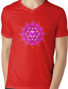 Anahata Heart Chakra Centre Of Love & Compassion Mens V-Neck T-Shirt