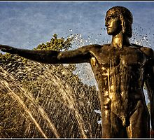 Sculpture at a fountain in Hyde Park in Sydney - 2 by Wolf Sverak