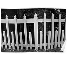 Picket fence. Poster