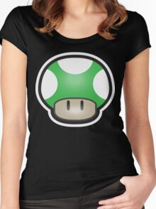 Mushroom-Green Women's Fitted Scoop T-Shirt