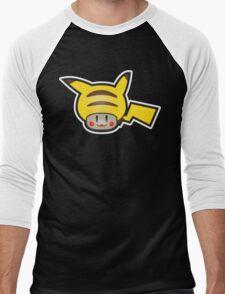Mushroom-Pika Men's Baseball ¾ T-Shirt