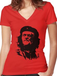 Che Corbyn - Jeremy Corbyn and Che Guevara political mash-up tshirt | Labour party leader Women's Fitted V-Neck T-Shirt