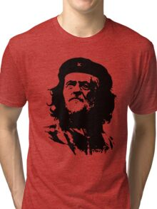 Che Corbyn - Jeremy Corbyn and Che Guevara political mash-up tshirt | Labour party leader Tri-blend T-Shirt