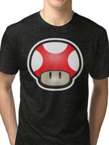 Mushroom-Red Tri-blend T-Shirt
