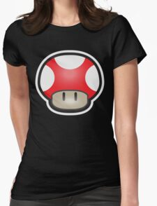 Mushroom-Red Womens Fitted T-Shirt