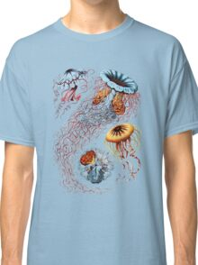 Colourful Jellyfish Marine Animals Illustration Vintage Dictionary Book Page,Discomedusae Classic T-Shirt