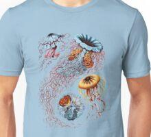Colourful Jellyfish Marine Animals Illustration Vintage Dictionary Book Page,Discomedusae Unisex T-Shirt