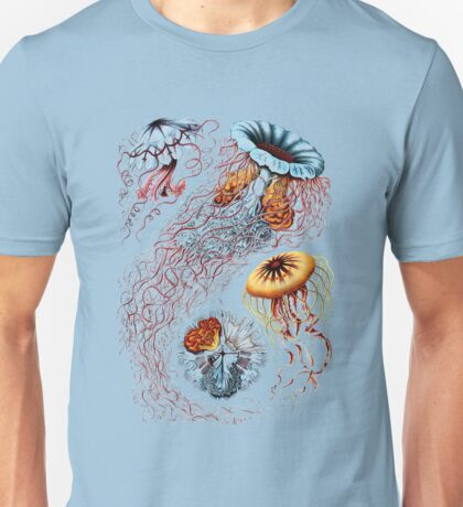 Colourful Jellyfish Marine Animals Illustration Vintage Dictionary Book Page,Discomedusae Unisex T-Shirt