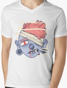 ciggie butt brain Mens V-Neck T-Shirt