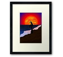 Karate Beach Framed Print