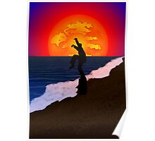 Karate Beach Poster
