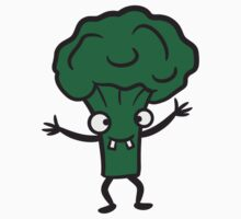 Broccoli comic funny face T-Shirt