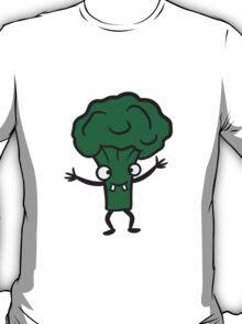 Broccoli comic funny face T-Shirt