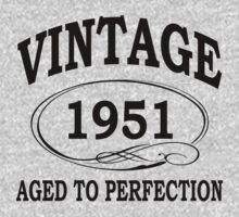 vintage 1951 aged to perfection by diannasdesign