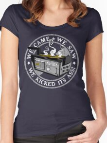 We came, we saw, we kicked its ass! Women's Fitted Scoop T-Shirt