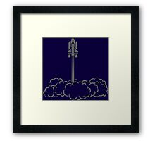 Silhouette Space Shuttle Launch Framed Print
