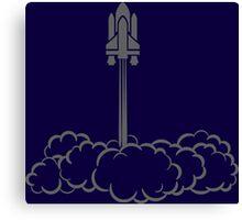Silhouette Space Shuttle Launch Canvas Print