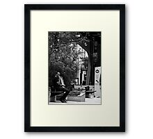 Just Sittin. Framed Print
