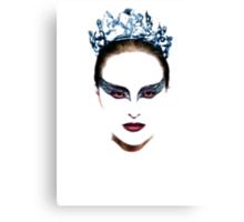 Black Swan face Canvas Print