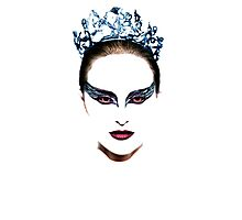 Black Swan face Photographic Print