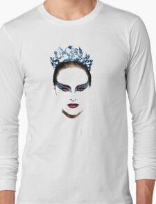Black Swan face Long Sleeve T-Shirt