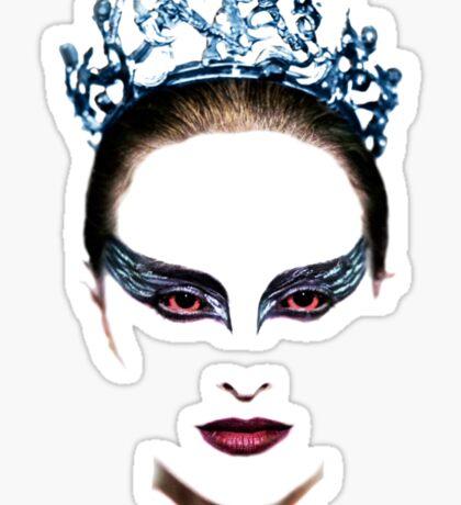 Black Swan face Sticker