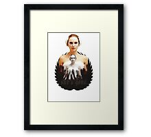 Black Swan sweet girl Framed Print
