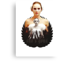 Black Swan sweet girl Canvas Print