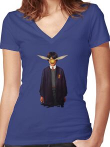 Harry Potter Women's Fitted V-Neck T-Shirt