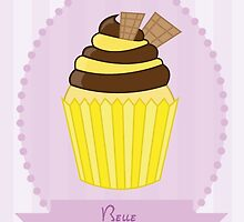 Belle Cupcake Case by lirazartberger
