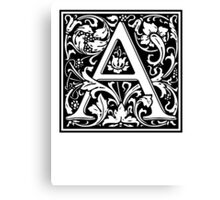 Decorative Letter A Canvas Print