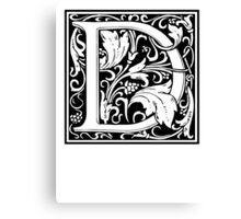 Decorative Letter D Canvas Print