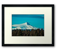 Mt. Jefferson Throwing off His Covers Framed Print