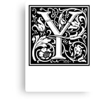 Decorative Letter Y Canvas Print